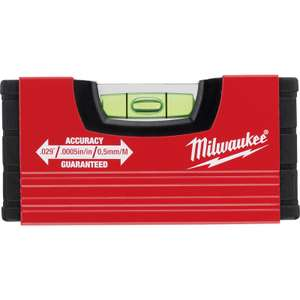 Milwaukee MINIBOX Spirit Level 100mm - £4.79 + free Click and Collect @ Toolstation