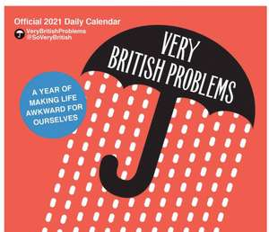 Very British Problems desk and wall calendar £15.98 delivered at Calendar Club