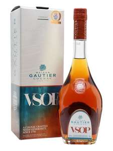 Gautier VSOP Cognac gift box@ the whisky exchange. Free click and collect £26.95 @ The Whisky Exchange