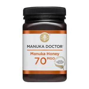 Manuka Honey 70 MGO 500g £19 + £5 delivery at Manuka Doctor
