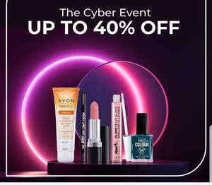 AVON Cyber event sale, £5 off £20 spend, £10 off £40 spend(some examples in description)