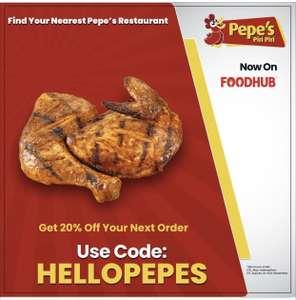 20% off Pepe's Piri Piri on Foodhub