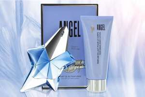 50ml Thierry Mugler Angel eau de parfum gift set and a 100ml body lotion. - £43.98 Delivered @ Wowcher