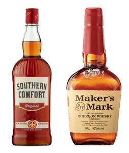 Southern Comfort 1 Litre for £18 or Makers Mark Bourbon 70cl for £20 (Clubcard) @ Tesco