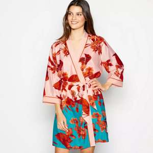 B by Ted Baker - Pink 'Fantasia' Kimono Dressing Gown - Size 8-10 Only £20 + Hermes ParcelShop £1.99 delivery @ Debenhams