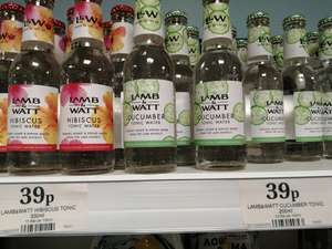 Lamb & Watt Hibiscus Tonic Water 39p (& Cucumber tonic ) in-store at Home Bargains (at 4 x Wirral stores).