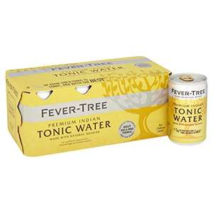 Fever-Tree 3 packs of Indian Tonic Water 8 x 150 ml (total 24 dinky cans) £6.78 (+£4.49 non-prime) @ Amazon