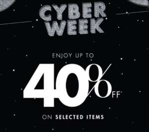 Up to 40% off on selected items at Harvey Nichols