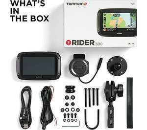 Tomtom Rider 500 motorcycle sat nav - £249.99 - Sold and Shipped by AMAZON @ Amazon