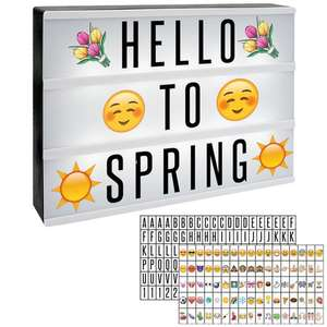 A4 Lightbox with 205 Letters & Emojis - £7.44 Delivered @ Roov