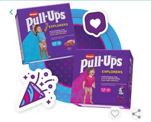 FREE Huggies Pull-ups Explorers - 24 or 28 Pack - from Tesco instore by downloading the Bounty Pregnancy App for voucher