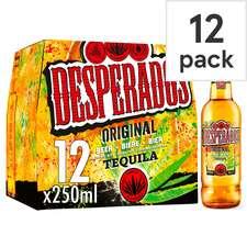 Desperados Tequila Flavoured Beer 12X250ml £9.00 @ Tesco (clubcard price)