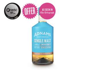 Adnams Southwold Single Malt Whisky 70cl - £29.98 delivered at Adnams Cellar and Kitchen