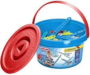 Meccano Construction 100 Pieces Blue Bucket £12.99 or Pink £14.99 Delivered @ BargainMax