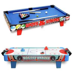 Chad Valley 3ft Table Top Pool or Push Hockey Game Table for £25 with Click and Collect @ Argos