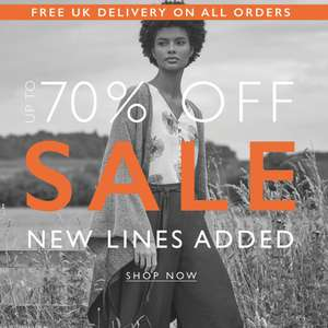 Up to 70% Off Sale + Free delivery on all orders @ Apricot