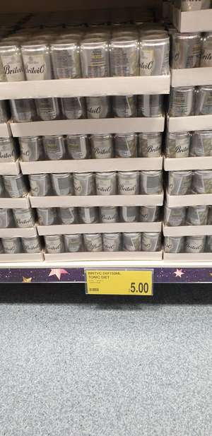 Britvic Low Calorie Tonic Water 24 x 150 mL cans - £5 Instore @ B&M (Gateshead)