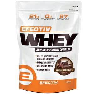 Efectiv Nutrition Whey 2kg £32.99 + £2.99 del at Discount Supplements