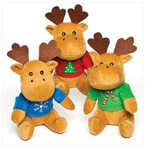 Reindeer Jumper Plus Pals from Baker Ross (Set of 3) - £6.95 + delivery (£2.95 or free if spending over £29 using code)
