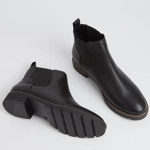 Sole Comfort Black Leather Chelsea Boots - £20 @ Argos