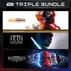 Star Wars Jedi Fallen Order Deluxe + Star Wars Squadrons + Star Wars Battlefront II (PS4) £35.85 (Using Shopto Credit) @ PlayStation Store