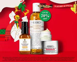 Up to 20% off selected lines at Kiehl's online and instore