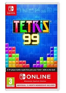 Tetris® 99 + 12 Month Nintendo Switch Online Individual Membership - £14.99 @ Simplygames