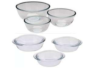 Pyrex 3 Piece Glass Bowl Set - £10.05    Pyrex 3 Piece Clear Casserole Set - £12.06 (free click & collect) @ Argos
