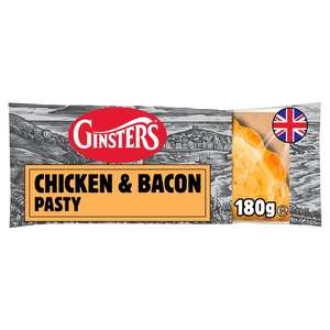 Ginsters Chicken & Bacon Pasty 180G 90p Clubcard Price at Tesco