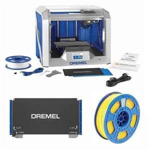 DREMEL 3D40 3D PRINTER + FLEX BUILD PLATE + YELLOW DREMEL 750G PLA FILAMENT - £399 @ Box