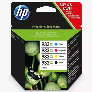 HP 932 XL/933 XL Cyan, Magenta, Yellow & Black Ink Cartridge Multipack, Pack of 4 - £31.49 / £34.99 delivered @ John Lewis & Partners