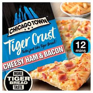 Chicago Town Tiger Crust Pizza (Double Pepperoni / Cheese Medley / Cheesy Ham & Bacon) £1.50 (Min Spend / Delivery Fee Applies) @ Morrisons