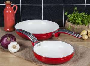 Swan Retro 20cm/28cm Frying Pans (Various colours) - Suitable for induction hobs also £17.50 delivered, using code + FREE Delivery @ Swan