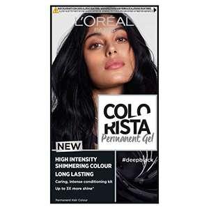 Black hair dyes from £3 prime / £7.49 non prime e.g L'Oreal Paris Colorista Deep Black Permanent Hair Dye Gel (£1.95 s&s) on Amazon