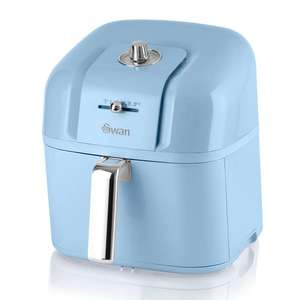 Swan Retro 6L Manual Air Fryer in Blue - £63 Delivered Using Code @ Swan