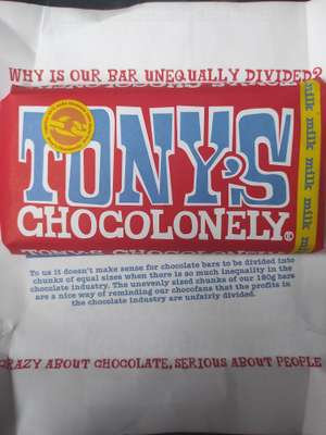 Tony's chocolonely £2.50 at local Spar (Staffordshire)