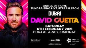 David Guetta Free Concert (Raising Funds for UNICEF & Covid-19) 6th February From Dubai @ YouTube