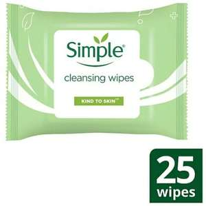 Simple cleansing wipes BOGOF £1.45 @ Superdrug - £3 delivery free when spend £10