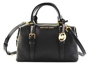 Michael Kors Ginger Leather Small Duffle Shoulder Bag Handbag, Black, £100.68 *In Stock Feb 20th* @ Amazon (Sold By Amazon US)