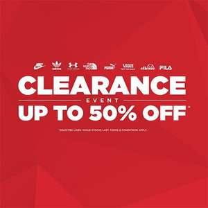 Up to 50% Off JD Sports Clearance - £3.99 delivery / free over £70