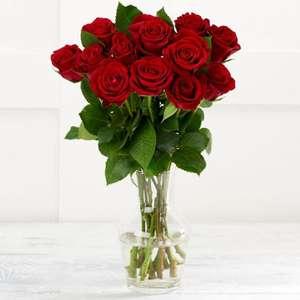 Sainsbury's Dozen Red Roses Bouquet - £5 (+ Delivery / Min Basket Applies) @ Sainsbury's
