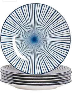 6 Piece Stripe Patterned Dinner Plate Set £8.99 also bowl and mug sets (see comments) - Dispatched from and sold by Rinkit Ltd on Amazon