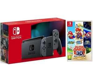 Nintendo Switch & Super Mario 3D All-Stars Bundle - Grey £299.00 / Add Minecraft for £309 @ Currys
