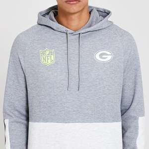 Green Bay Packers Colour Block Grey Hoodie with free delivery - £19 XS @ New Era