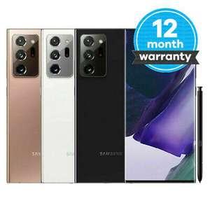 White pristine Samsung Galaxy Note20 Ultra 5G 256GB