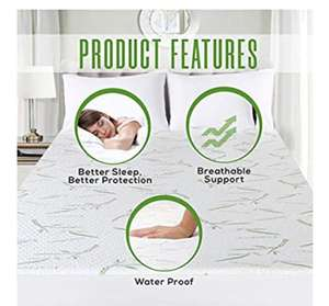 Utopia Premium Bamboo Mattress Protector, Super King - £15.99 Prime / +£4.49 non Prime Sold by Utopia Deals Europe and Fulfilled by Amazon