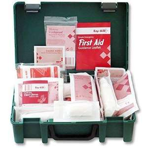 First Aid Kit HSE Compliant Home, Travel & Workplace 1-10 Persons £7.90 (+£4.49 Non Prime) Delivered @ Amazon
