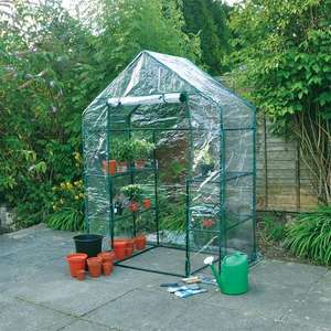 Kingfisher Walk In Greenhouse - £29.99 (+£3.99 Delivery) @ TJ Hughes