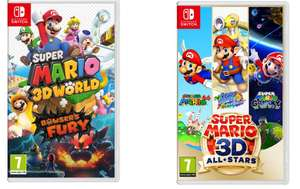 Super Mario 3D World & Bowser's Fury + Super Mario 3D All-Stars - £69.28 delivered (Using code) @ Currys