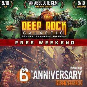 [Steam] Dying Light & Deep Rock Galactic (PC) Free Weekend @ Steam Store